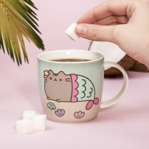 Pusheen Cat Mermaid Colour Changing Mug Kids Coffee Tea Gifts Heat Sensitive