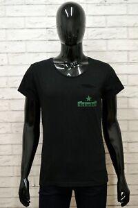 Maglia-HEINEKEN-Uomo-Taglia-Size-M-Maglietta-Shirt-Man-Manica-Corta-Cotone-Nero