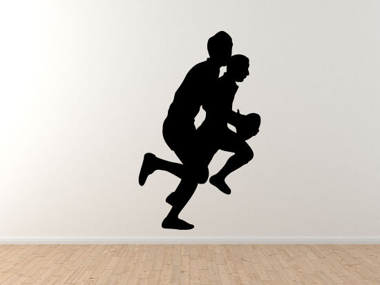 Sports Rugby  5 - Players Running Europe International - Vinyl Wall Decal