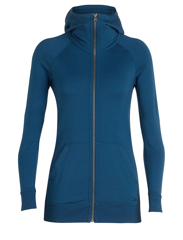 Icebreaker Crush Long Sleeve Zip Hood Ladies - 200 G M ² - Merino Wool
