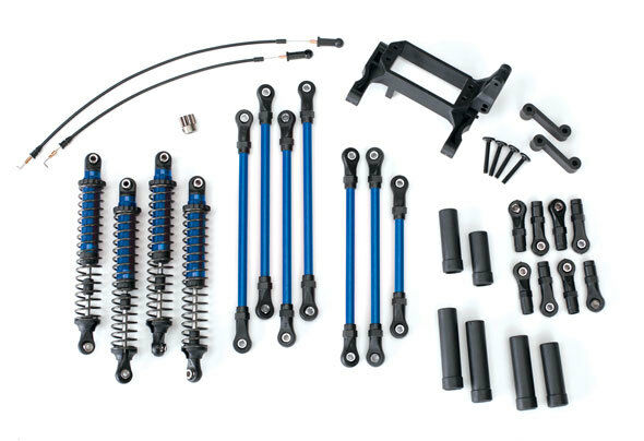 New Traxxas 8140X TRX-4 Complete Long Arm Lift Kit Travel Suspension bluee
