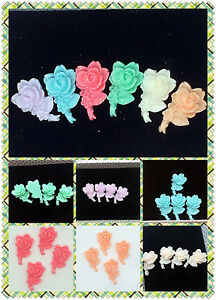 6pcs-Resin-mix-Flower-flatback-Appliques-For-phone-wedding-craft