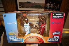 NIB McFarlane NBA 2-Pack Carmelo Anthony Nuggets & Lebron James Cavaliers JSH
