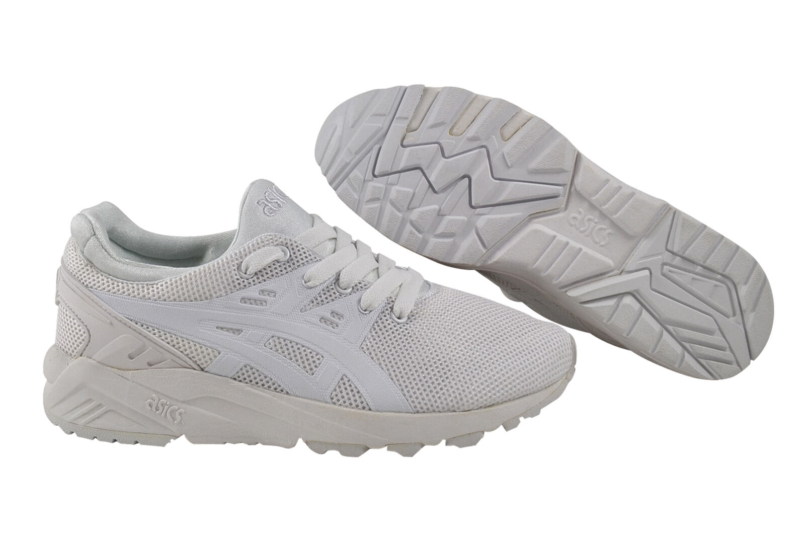 Zapatos casuales salvajes Asics GEL-Kayano entrenador evo White/White Sneaker/zapatos h5y3q 0101 blanco