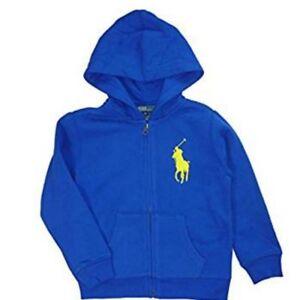 on sale 42267 3004a Details about Ralph Lauren Kinder Jungen Sweatshirt Kapuzen Jacke big Pony  Polo Reiter 116