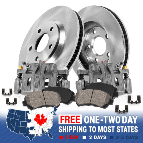 Front OE Brake Calipers And Rotors Pads For Expedition F150 Lincoln Navigator