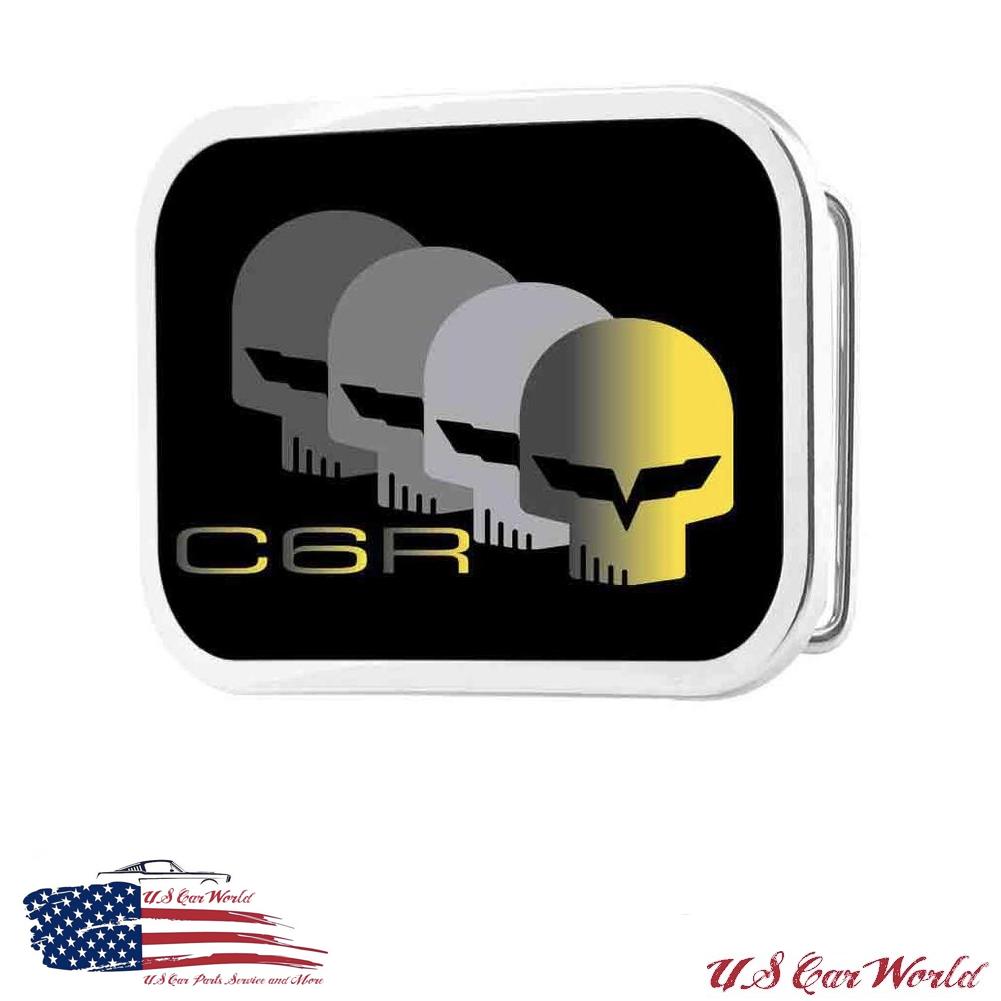 Corvette C6R Gürtelschnalle - Corvette Jake Head Corvette C6R Logo - lizensiert
