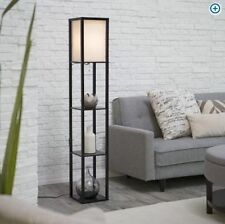 Floor Lamp Storage Shelves Japanese Modern Contemporary Light Stand Wood Accent