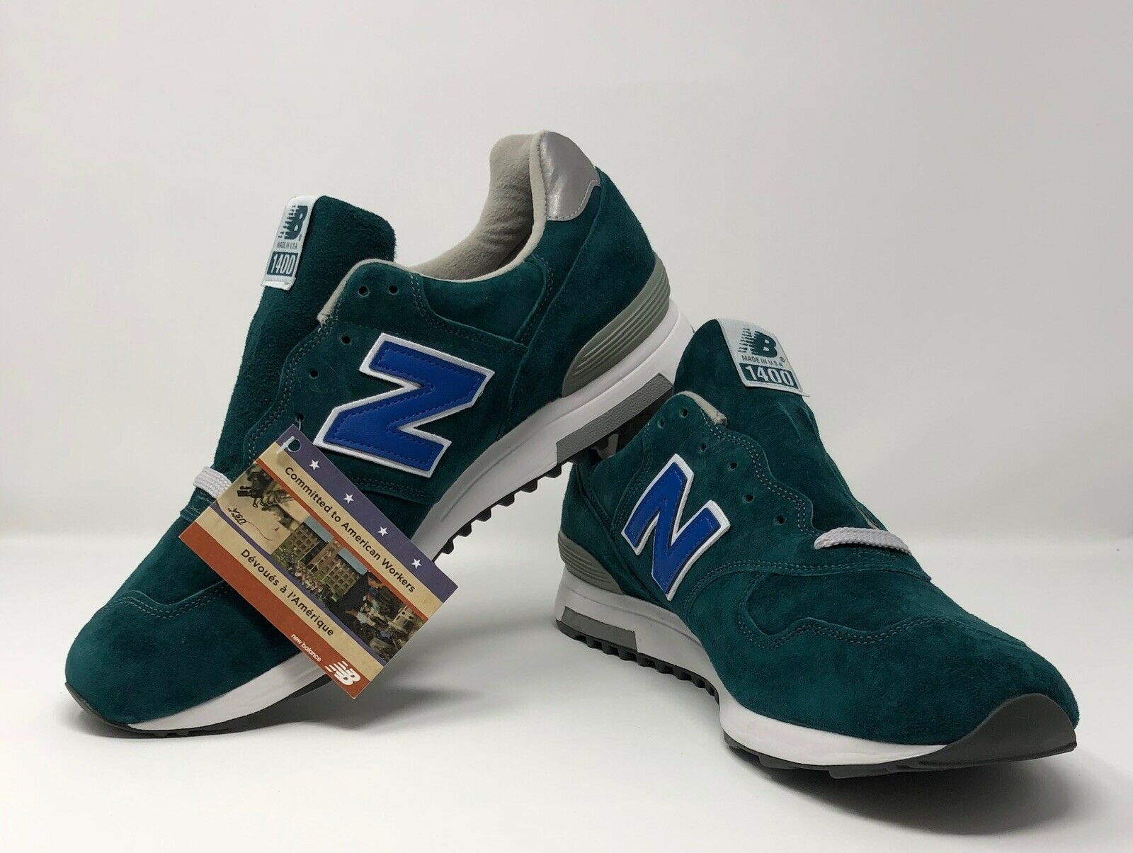 New Balance 1400 Daim Taille 13 Eververt J Crew made in USA M1400JJ2 RARE