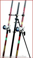 2 X 13 Ft Mitchell Rods & Multiplier Reels & Tripod Beachcaster Sea Fishing