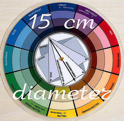 Glossy Plastic Pocket Color Wheel 15cm Large Diameter