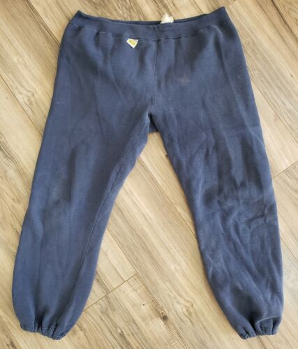 Vtg 70s RUSSELL ATHLETIC SWEATPANTS Blue Cotton w/