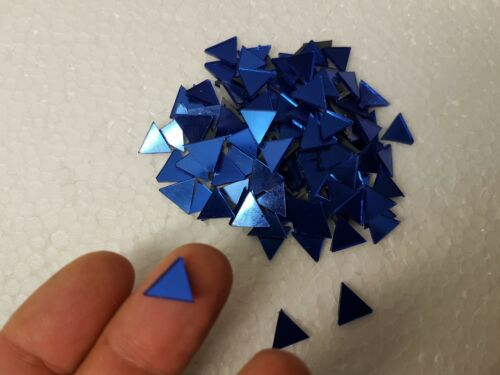 1x1x1 cm Art/&Craft Royal Blue Triangle Glass Mirror 1.6 mm Thick 100 pieces