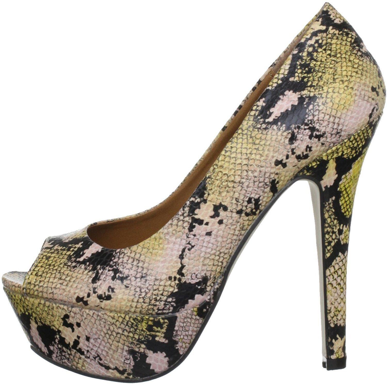 NEW DUNE H O H SIZE 3 4 5 6 7 8 DILLY H BEIGE SNAKE HIGH COURT SHOES