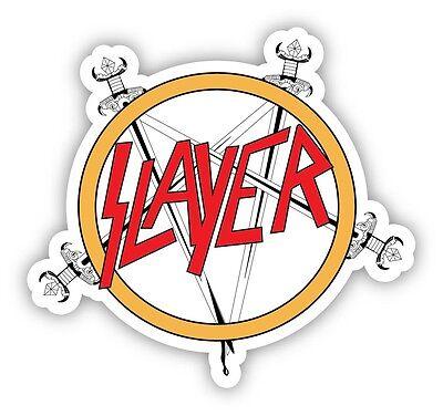 Slayer Decal Vinyl Sticker Die Cut Full Color Logo Thrash Metal Music Bumper