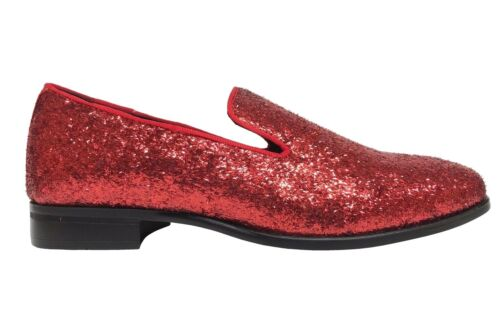Stacy Adams Swank Men/'s Red Slip On Loafers 25277-600