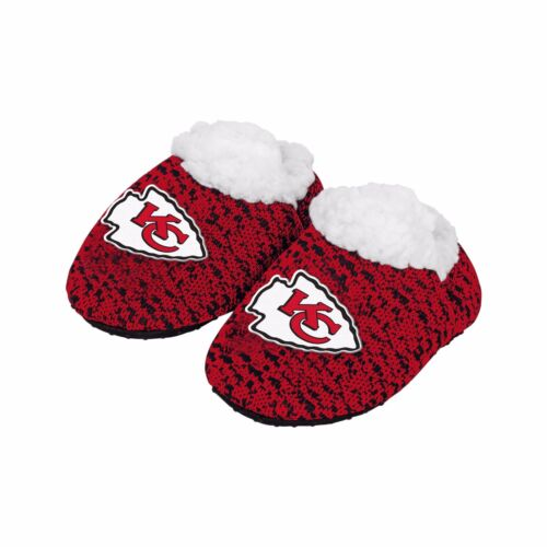 Football Infant Newborn Poly Knit Baby Booties Slippers NEW - Pick team & size