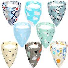 Baby Bibs Unisex for Drooling and Teething 100/% Cotton Muslin Baby Bandana Drool Bibs KT02