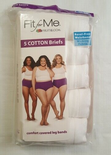 Women/'s Fruit of The Loom Fit For Me Cotton or Microfiber Briefs Size-10-12