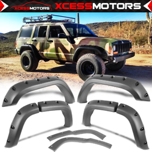 Fit 84 01 Jeep Cherokee Xj Fender Flares Pocket Style Wheel Cover