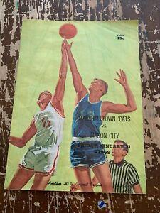 Vintage-1969-Marshalltown-Cats-VS-Mason-City-Iowa-High-School-Program