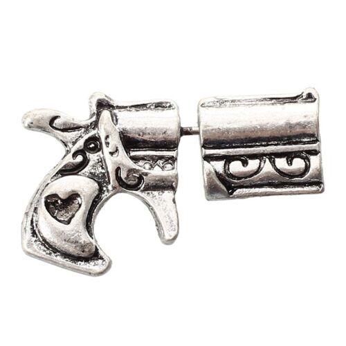 Ohrring Art Ohrbolzenpunk 3D Revolvergewehr Form Piercing Charme Geschenk C4E3