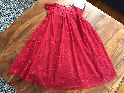 H&M Kinder Tüllkleid mit Glitzer Rot Gr. 110 NEU !!   eBay