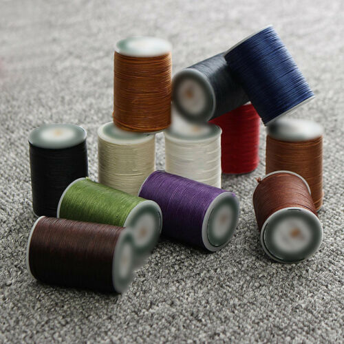 Waxed Thread 0.8mm//78M Polyester Cord For Sewing Stitch Leather Craft Bracelet