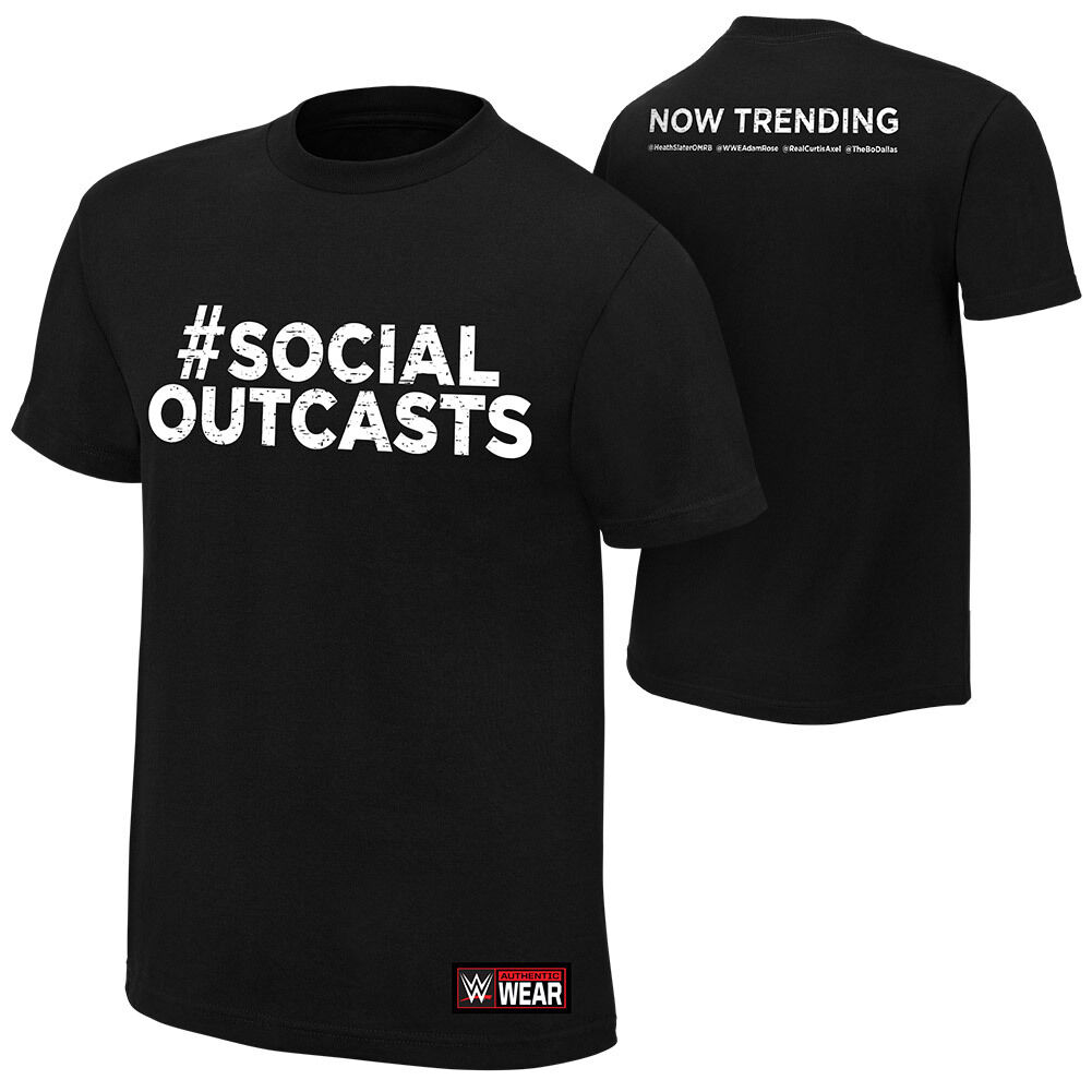 Official WWE - Social Outcasts  Now Trending  Authentic T-Shirt