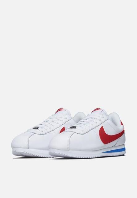 06c9d3cc94412c Nike Cortez Basic Leather OG Mens Shoes 9 White Varsity Red 882254 ...