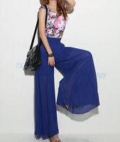 FashionWomen's Dockers Wide leg Long Trousers Loose Chiffon Gauze Pants Culottes