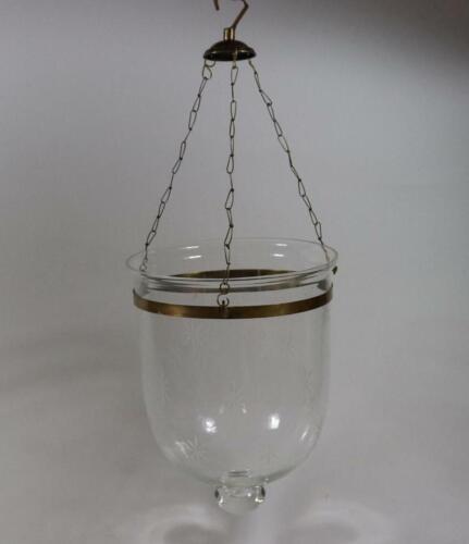 Hänge Windlicht Leuchterschale Glas Schiffdekor Sterne Messingmontierung RK186