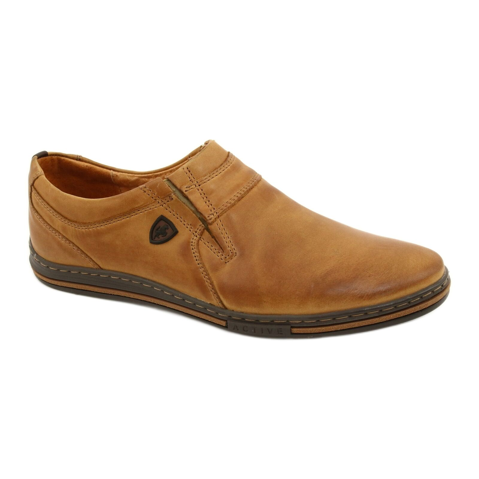 Polbut Men's shoes leather 362 ginger multicolored
