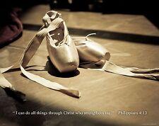 Ballet Dance Motivational Poster Art Print Shoes Flats Tutu Leotard Skirt RELG15