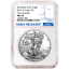 2019-W-Burnished-1-American-Silver-Eagle-NGC-MS70-Blue-ER-Label thumbnail 1