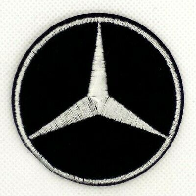 Black White AMG Car Logo Mercedes Benz Sew Iron on Patch Appliques Badge 373