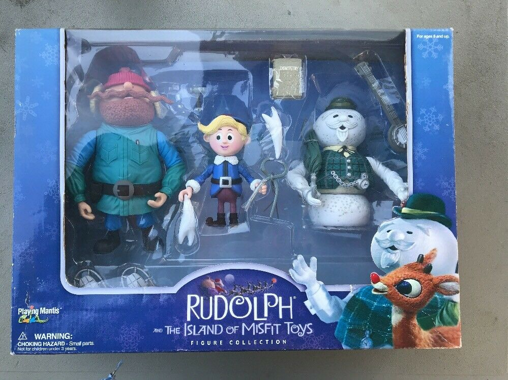 Rudolph and The Island of Misfit Toys Figurine Collection  2001 Playing Mantis