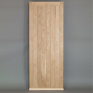 Solid Oak Framed Ledged External Door - Custom Size Exterior Door | eBay