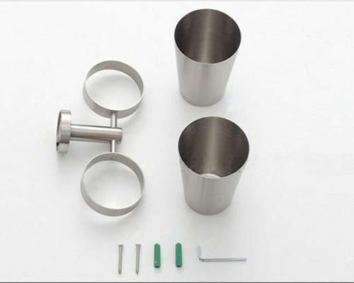SUS 304 Toothbrush Tumbler Cup Holder Wall Mount Shelf Brushed Nickel For Bath