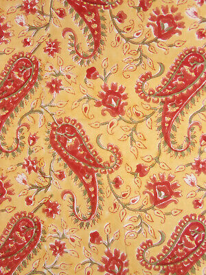 Pottery Barn Emira Paisley Floral Red Yellow Green