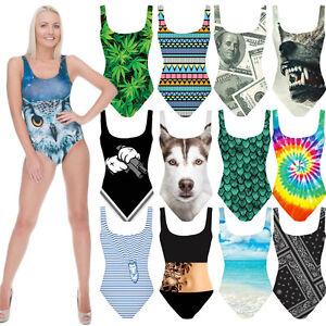b0c78d38b4 Image is loading Body-Monokini-One-Piece-Lingerie-Shapewear-Underwear -FullPrint-