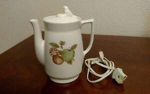 Ceramic-Porcelain-Electric-Tea-Kettle-Teapot-Japan-120V-350W-Green-Apple-Orange