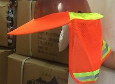 Orange High Visibility Neck Shade Visor