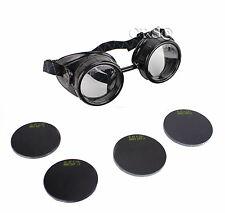 Welding Goggles Glasses 3 Lens Set ARC MIG TIG GAS Oxy Cutting #5 #11 #16 Shade
