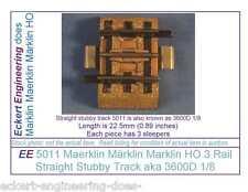 EE 5011 VG Maerklin Märklin Marklin HO 3R 3 Rail Stubby Straight Track 3600D1/8