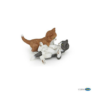 Action Figures Animals & Dinosaurs Papo 54034 Playing Kitten 4,5 Cm Dogs And Cats Sale Price