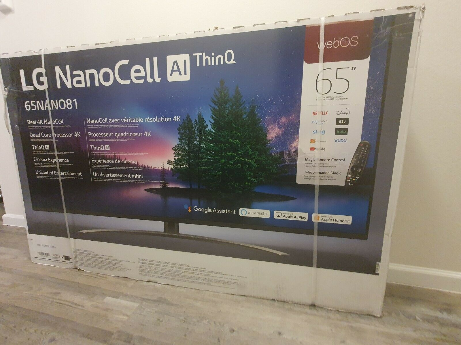 65 inch tv LG NanoCell Ai ThinQ 65nano81 . Available Now for 800.00