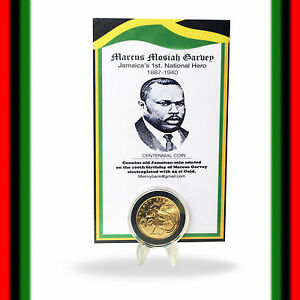 Straightforward Marcus Mosiah Garvey Jamaica Old Jamaican Coin Electroplated 24 Ct Gold Coin Good For Antipyretic And Throat Soother Central America