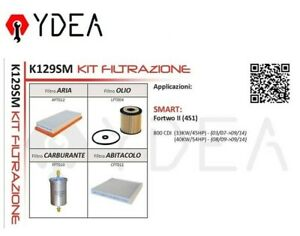 Kit de Filtres Intelligent Fortwo II (451) 800 CDI 33KW/45HP 40KW/54HP - Ydea