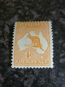 AUSTRALIA POSTAGE STAMP SG6 4D 1913 ORANGE DIE II UN MOUNTED MINT